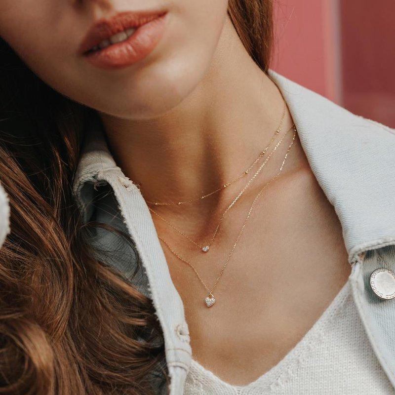 Aurelie Gi Bella Diamond Heart Pendant