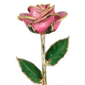 Pink Rose - 24KT Trimmed
