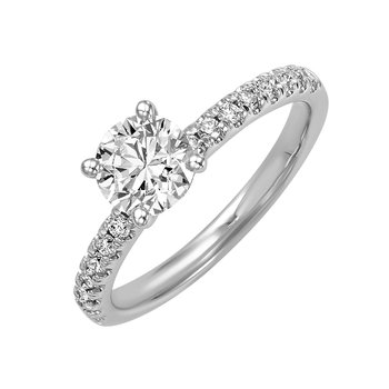 Lab Created Engagement Ring