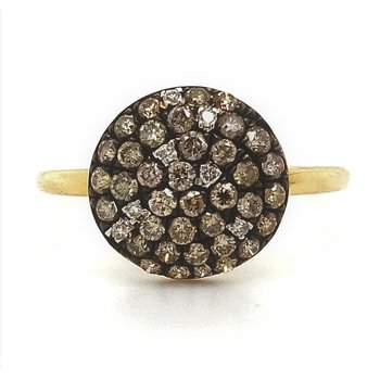 Fancy Colored Diamond Disc Ring