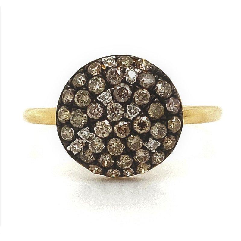 Sartor Hamann Closeouts Fancy Colored Diamond Disc Ring