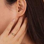 Aurelie Gi Lara Curved Ring