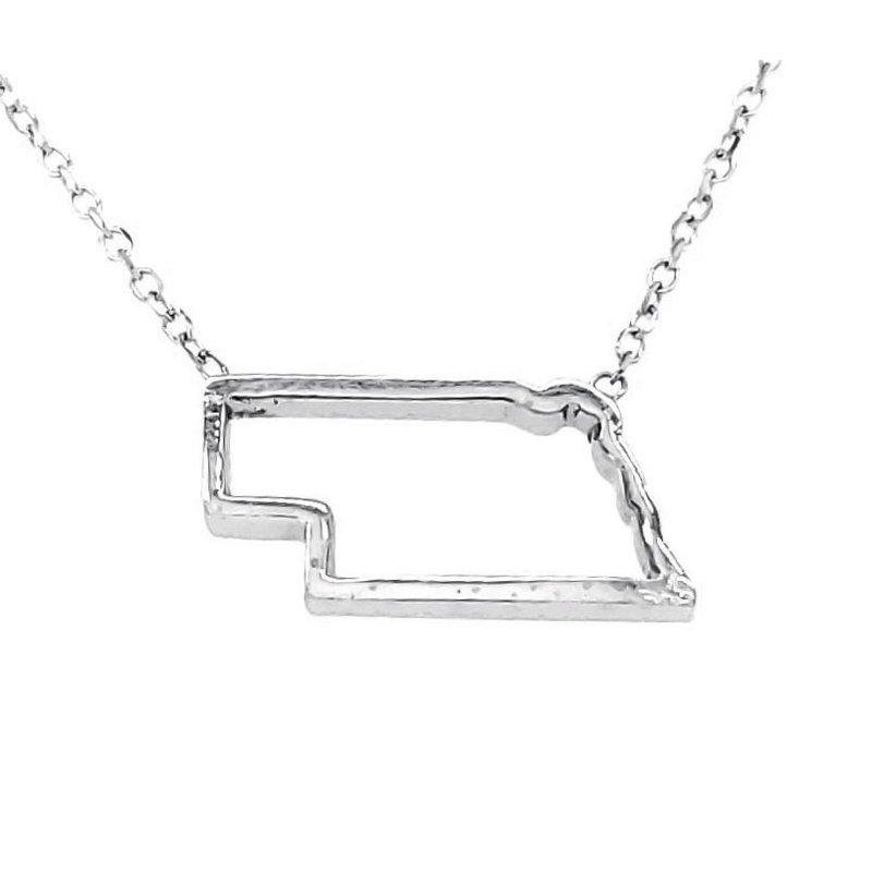 Husker Jewelry Collection Sterling Silver Nebraska Pendant