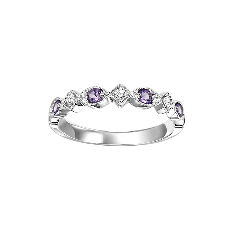 Sartor Hamann Signature Amethyst Mixable Birthstone Rings in 4 Styles