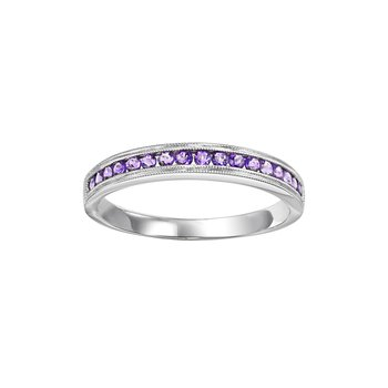 Amethyst Mixable Birthstone Rings in 4 Styles