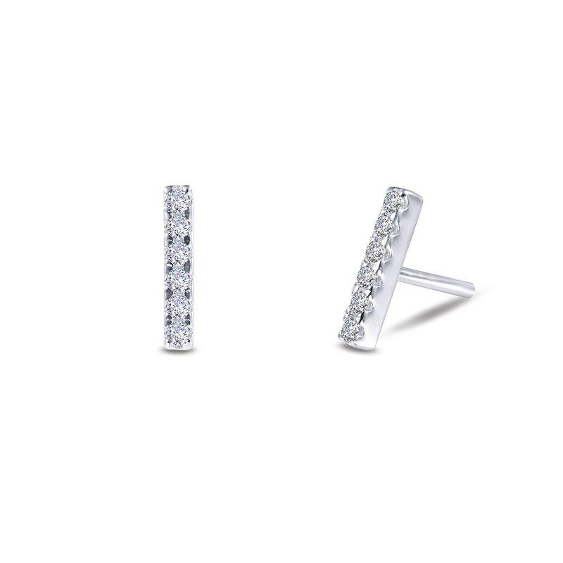Sartor Hamann Signature Lafonn Sterling Silver Bar Earrings
