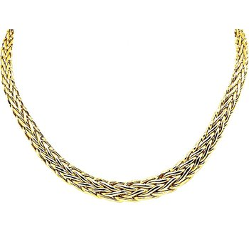 Woven Gold Necklace