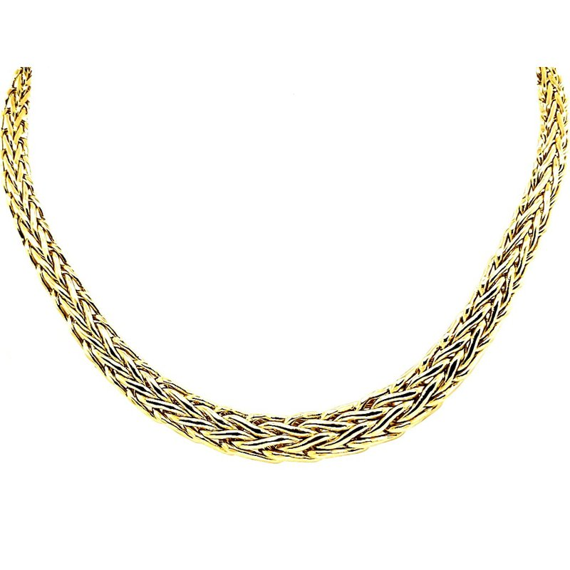 Estate Collection Woven Gold Necklace