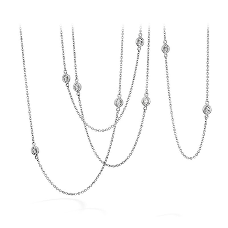 Hearts on Fire Hearts on Fire Optima Stations Necklace in 18KT White & Yellow Gold