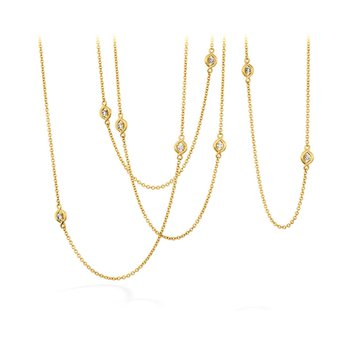 Hearts on Fire Optima Stations Necklace in 18KT White & Yellow Gold