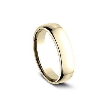 Euro Comfort Fit Wedding Band 6.5mm Yellow Gold