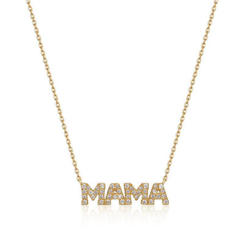 Aurelie Gi Mere Diamond Mama Necklace