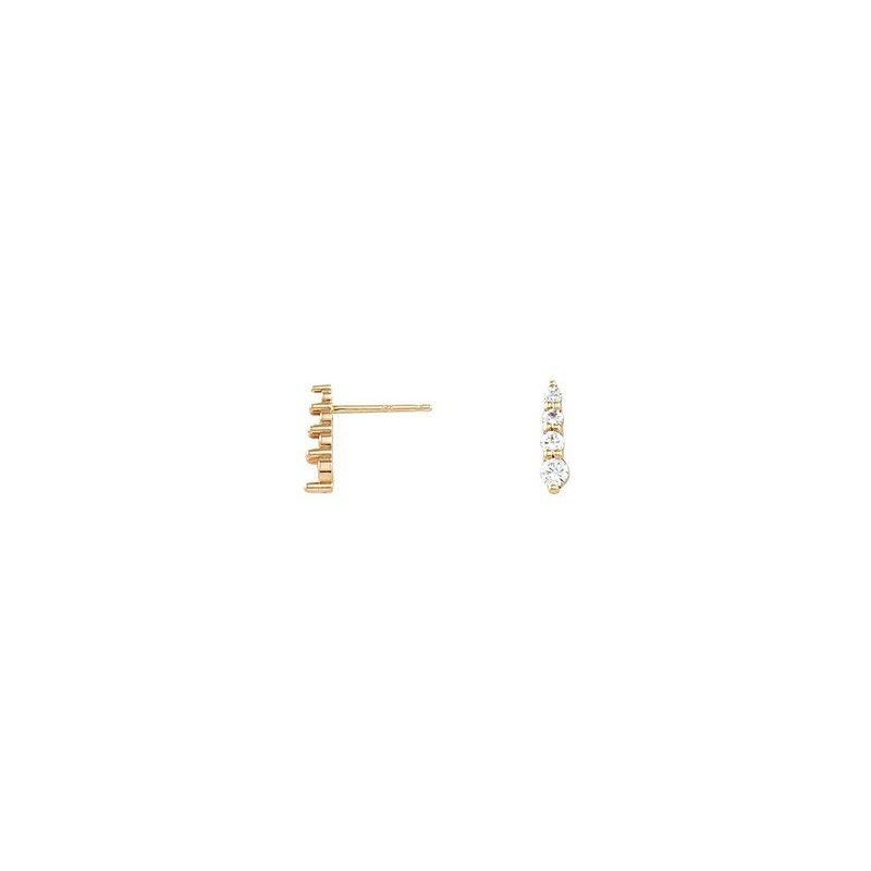 Sartor Hamann Signature 14K Yellow Gold Diamond Earrings