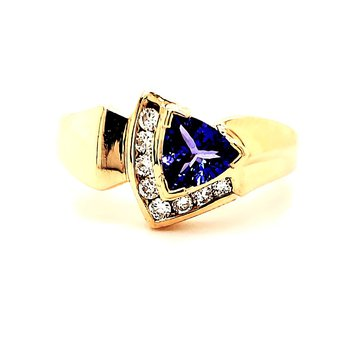 Offset Tanzanite Ring