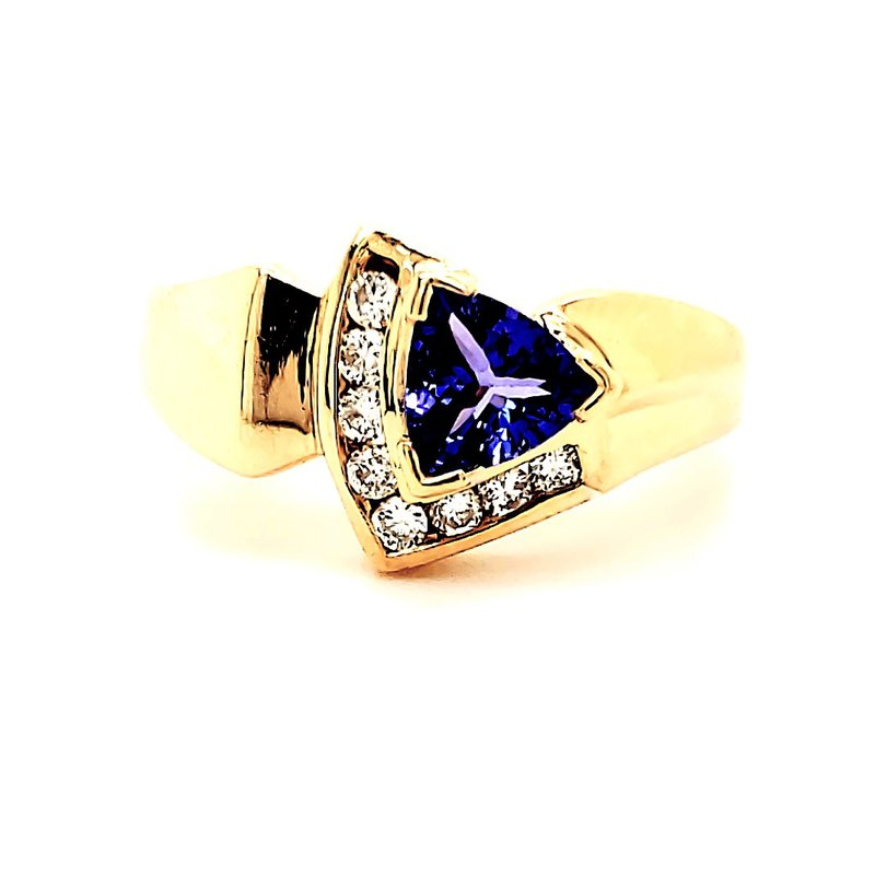 Estate Collection Offset Tanzanite Ring