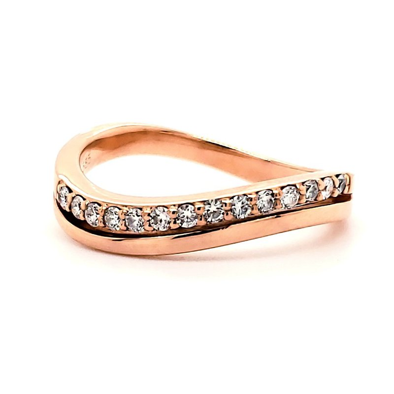Estate Collection Rose Gold and Diamond Ring