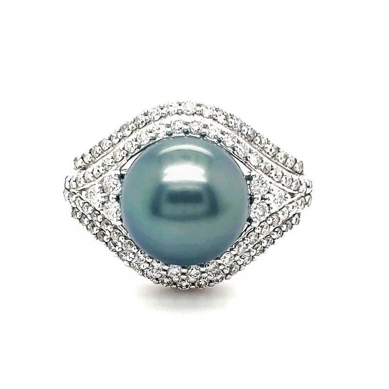 Sartor Hamann Closeouts Tahitian Pearl and Diamond Ring