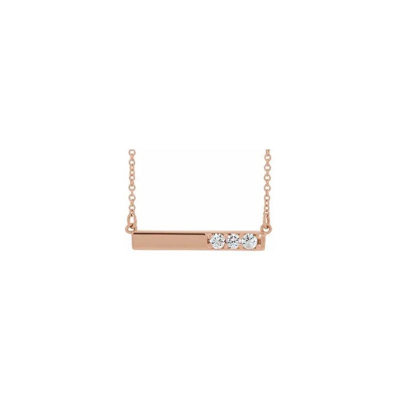 Sartor Hamann Signature 14K Rose Gold Diamond Bar Pendant