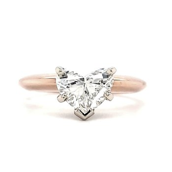 1.34 CT Heart Shape Solitaire