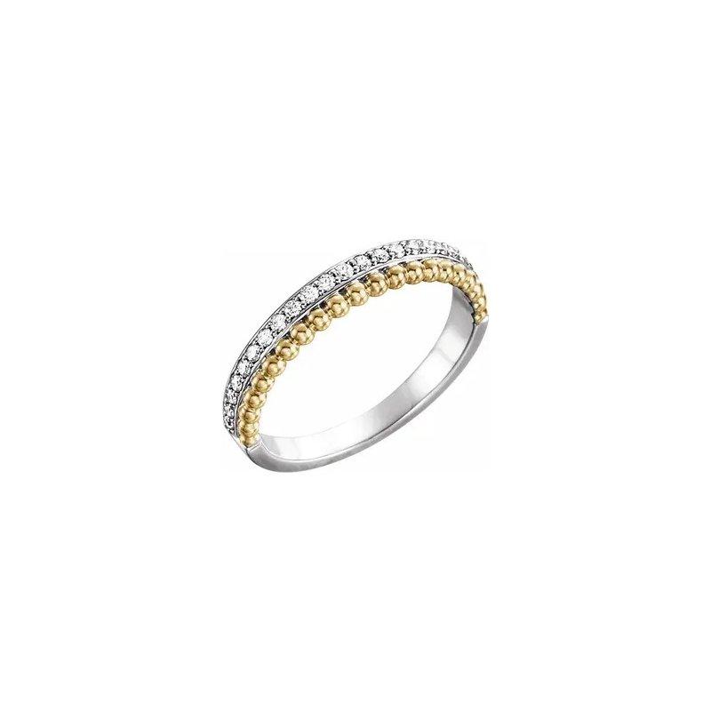 Sartor Hamann Signature 14K Two Tone Diamond Ring