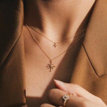 Candie Diamond Octagram Star Necklace