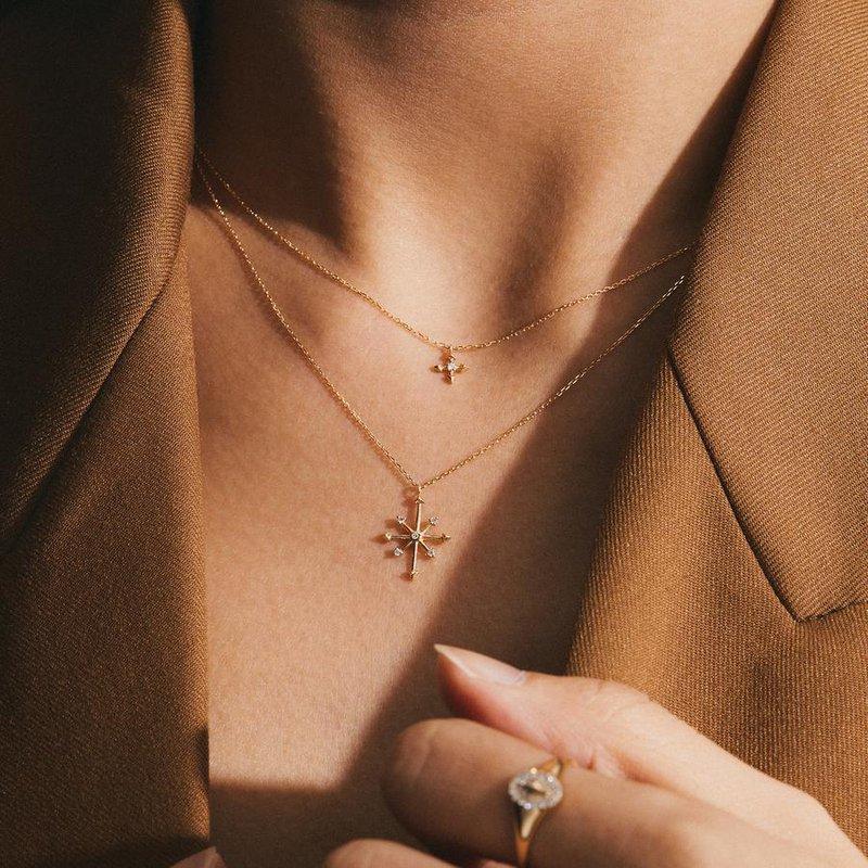 Aurelie Gi CandieDiamond Octagram Star Necklace