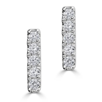 Diamond Bar Earrings