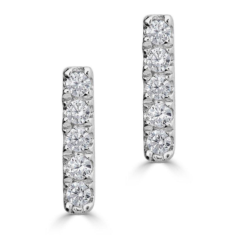 Sartor Hamann Signature Diamond Bar Earrings