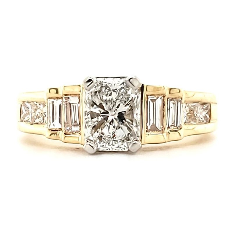 Estate Collection Radiant Cut Diamond Engagement Ring