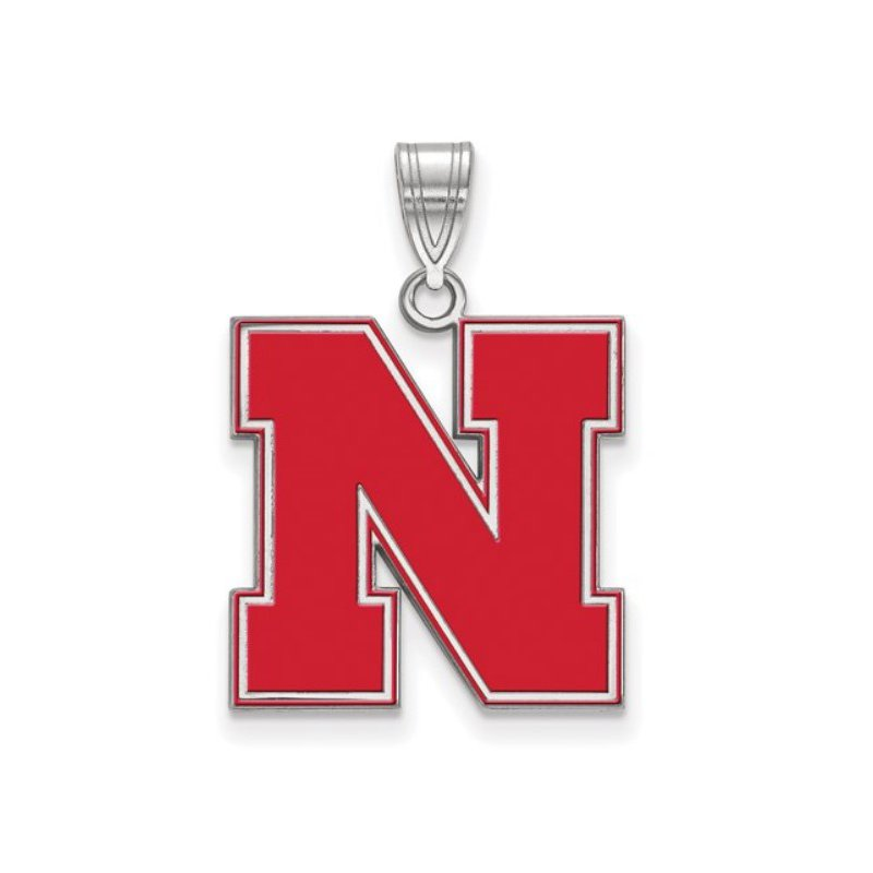 """Husker Jewelry Collection Large Red Husker """"N"""" Pendant"""