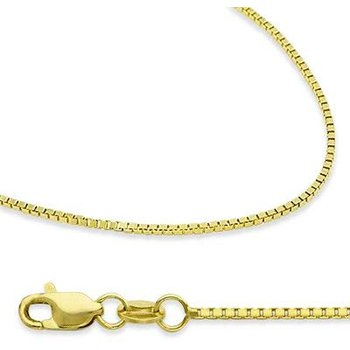 "18"" Yellow Gold Box Chain in 2 Widths"