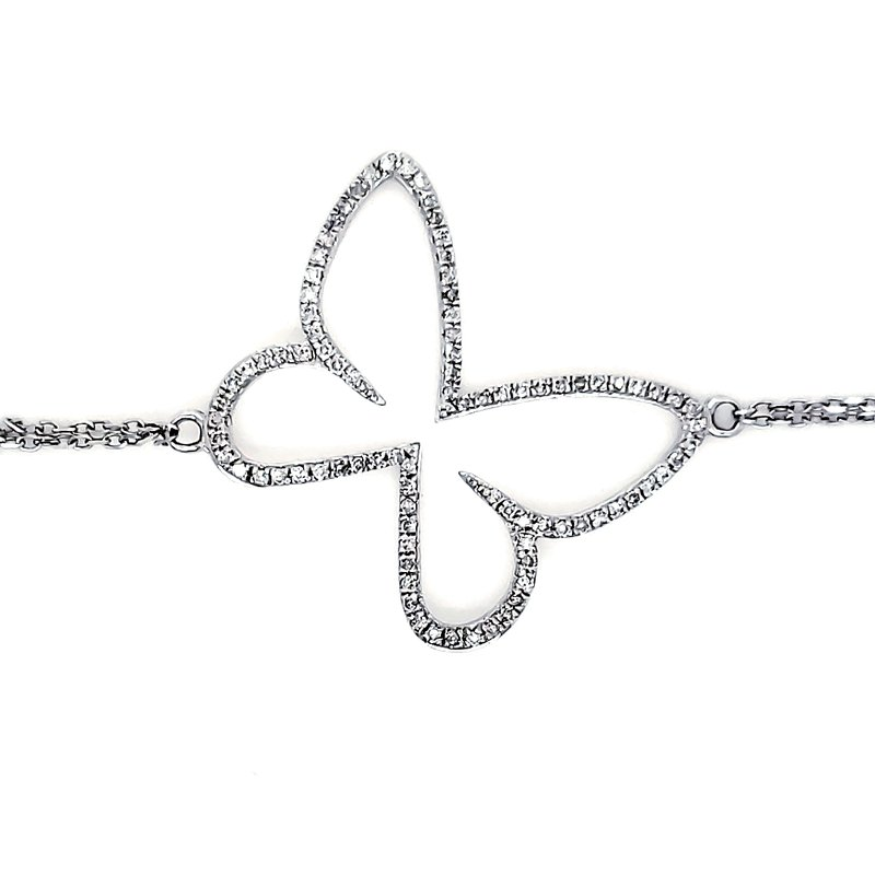 Sartor Hamann Closeouts Diamond Butterfly Bracelet