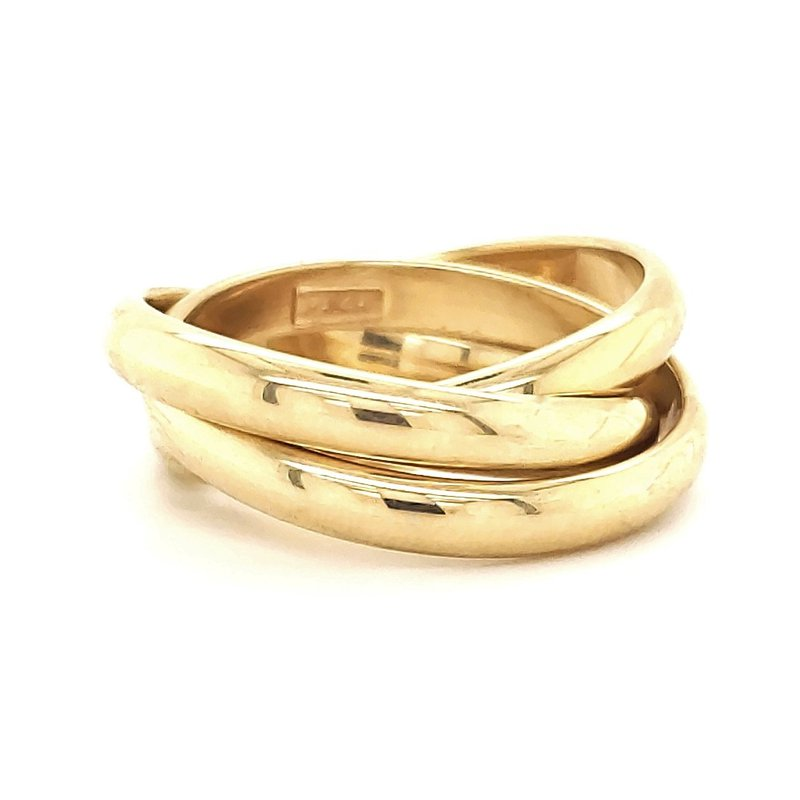 Estate Collection Yellow Gold Rolling Ring