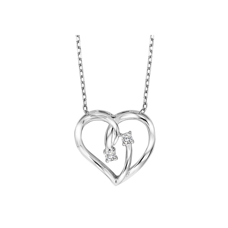 Sartor Hamann Signature Silver Diamond Heart Pendant
