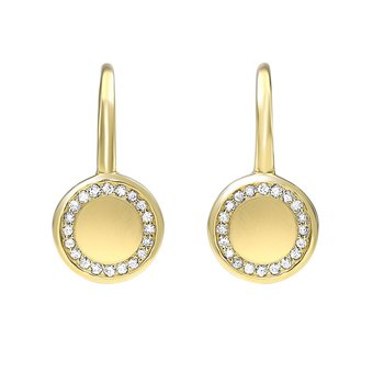 Disk Dangle Earrings