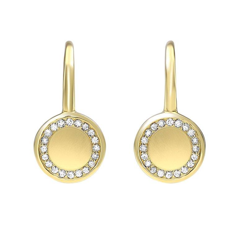 Sartor Hamann Signature Disk Dangle Earrings