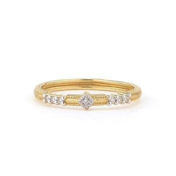 18K Gold Diamond Band