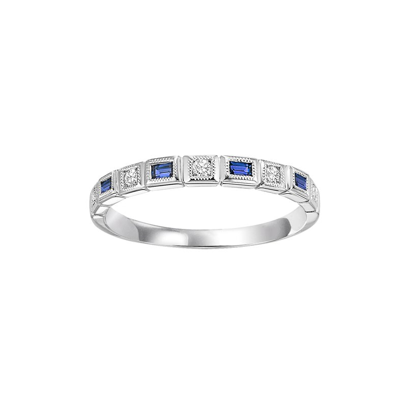 Sartor Hamann Signature Blue Sapphire Mixable Birthstone Rings in 4 Styles
