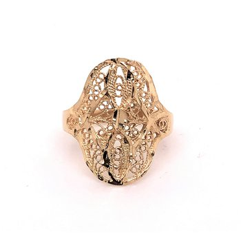 Gold Filigree Fashion Ring