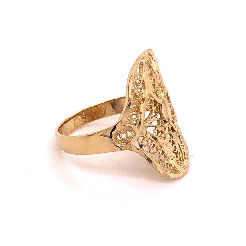 Estate Collection Gold Filigree Fashion Ring