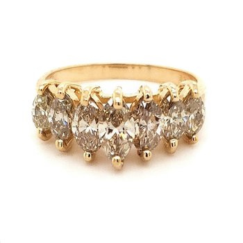 Champagne Diamond Waterfall Ring