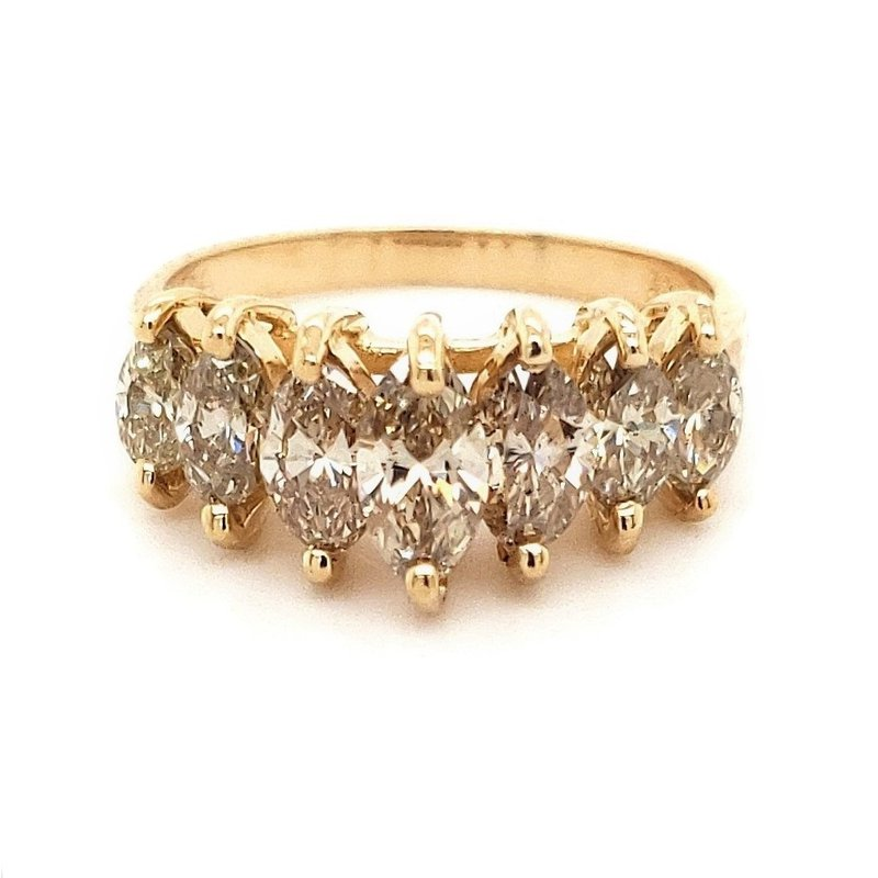 Estate Collection Champagne Diamond Waterfall Ring