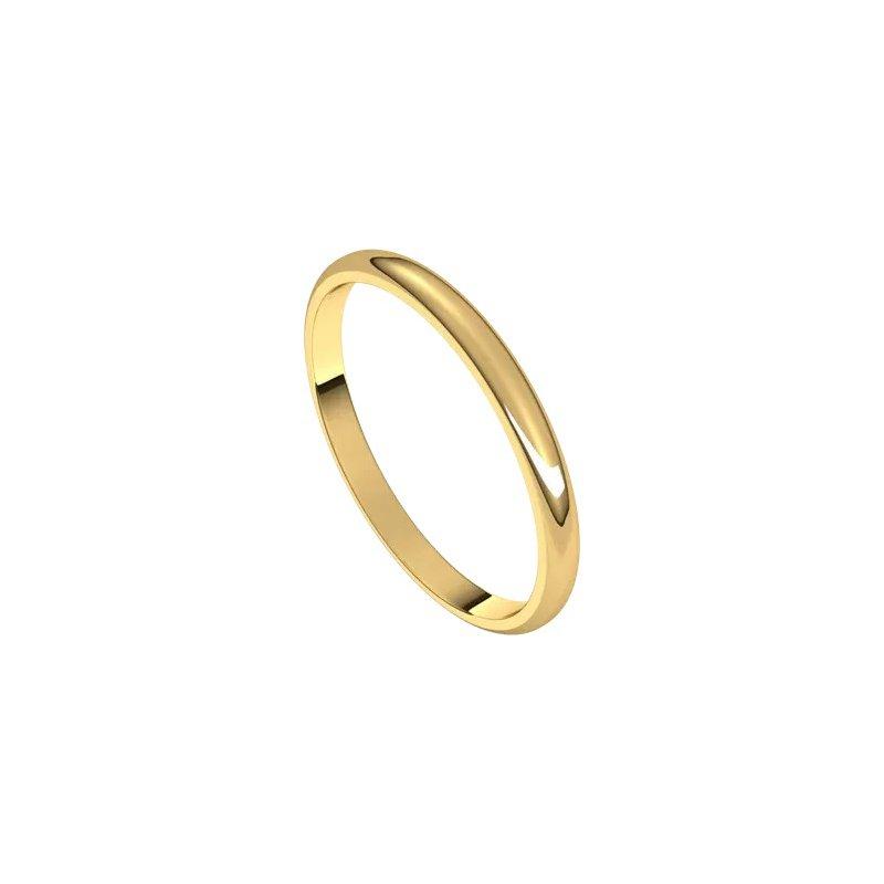 Sartor Hamann Bridal Wedding Band 2mm Yellow Gold