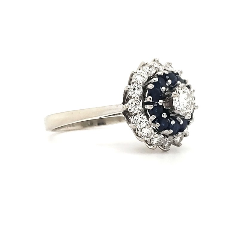 Estate Collection Sapphire and Diamond Cocktail Ring