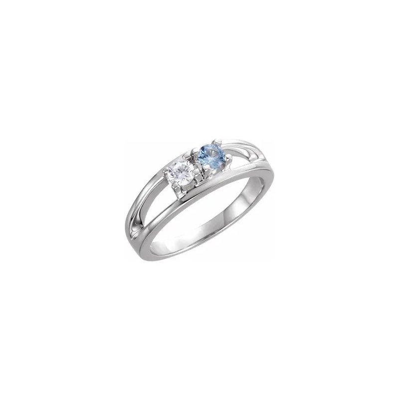Sartor Hamann Signature 2-Stone Family Ring in 10K