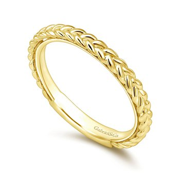 Gabriel Braided Stackable Wedding Band