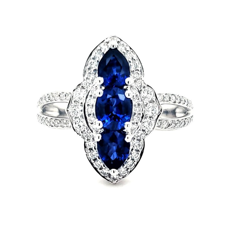 Sartor Hamann Closeouts Vintage Inspired Sapphire Ring