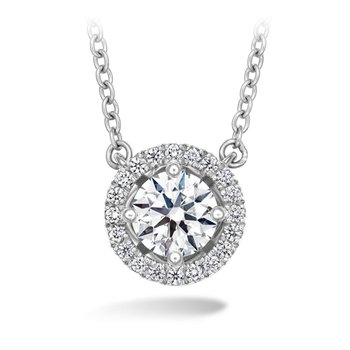 Hearts on Fire Joy Halo Pendant in 2 Carat Weights