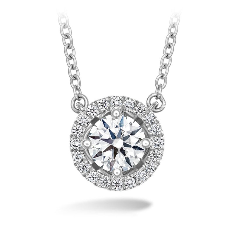 Hearts on Fire Hearts on Fire Joy Halo Pendant in 2 Carat Weights
