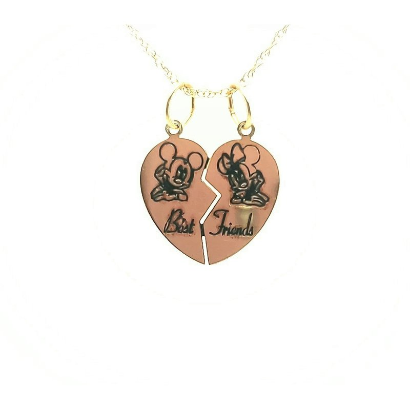 Estate Collection Mickey and Minnie BF Pendant